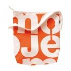 velká oranžová taška bílá
