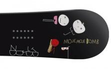 black bomb snowboard