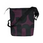 čtvercová černá taška fialovo-černá