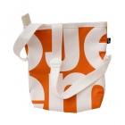 čtvercová oranžová taška bílá