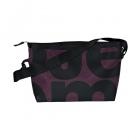 podlouhlá černá taška černo-fialová