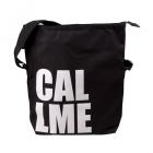 velká černá typo taška call me