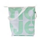 velká bílá taška zelená