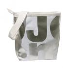 čtvercová bílá taška stříbrná