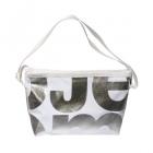podlouhlá bílá taška stříbrná